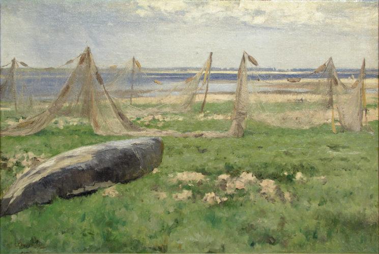 Пейзаж з рибальськими сітями