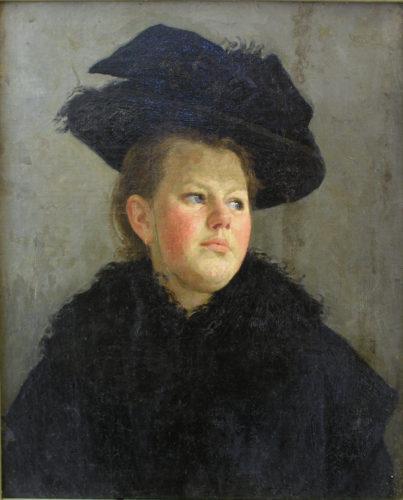 Портрет жінки в капелюсі