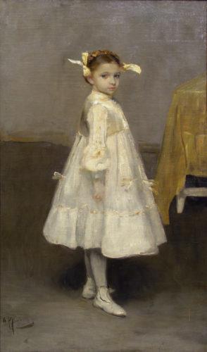 Дівчинка в білому. Портрет Тані Язєвої