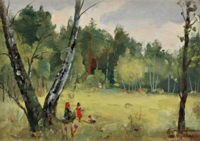 Галявина в лісі. Етюд