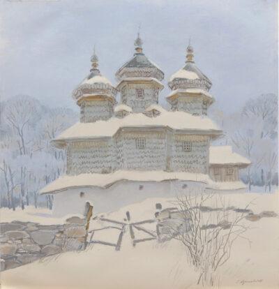 """Церква у Вижниці. Із серії """"Архітектурні пам'ятки України"""""""