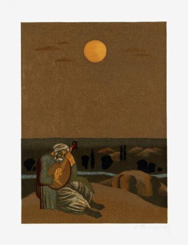 Ілюстрації до збірника поезій Т. Г. Шевченка «Садок вишневий коло хати». Вітер віє-повіває. (Перебендя)