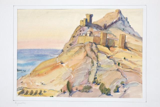 Крим. Судак. Залишки стін Генуезької фортец