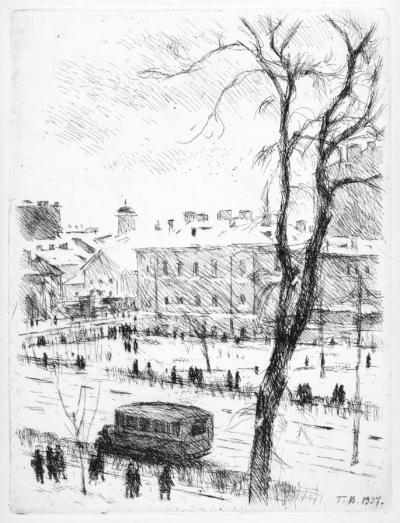 З вікна художника. На Великому проспекті Васильєвського острова