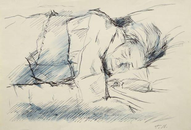 Спляча старенька. Начерк